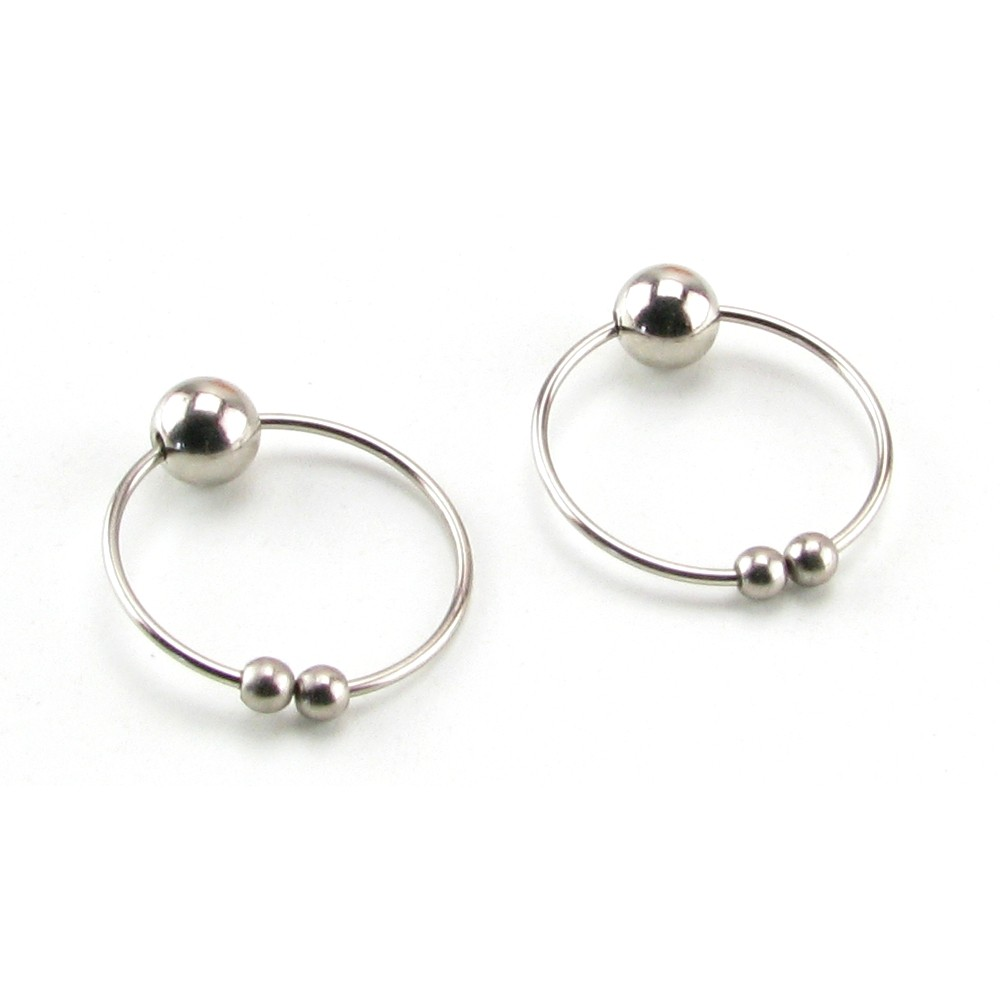 Nipple Play Nipple Rings Non Piercing Silver