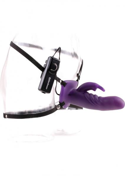 Fetish Fantasy Wonderful Wabbit Hollow Strap-On Purple 7.5 Inch