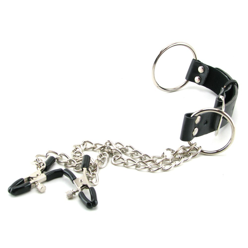 Fetish Fantasy Nipple Clamps And Cock Ring Set Black