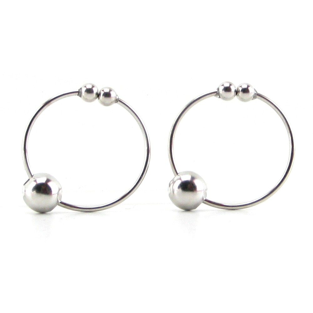 Fetish Fantasy Nipple Bull Ring Silver