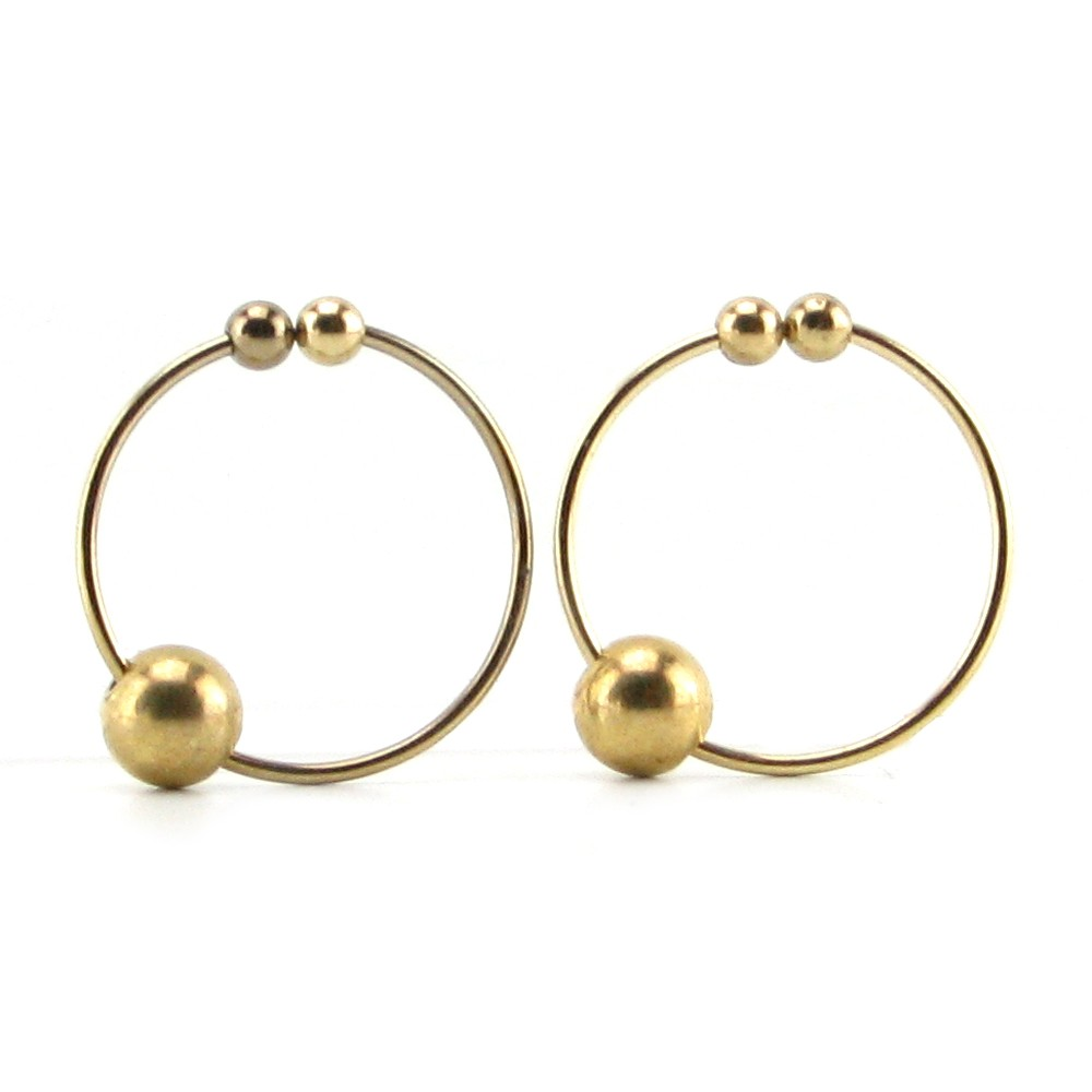 Fetish Fantasy Nipple Bull Ring Gold